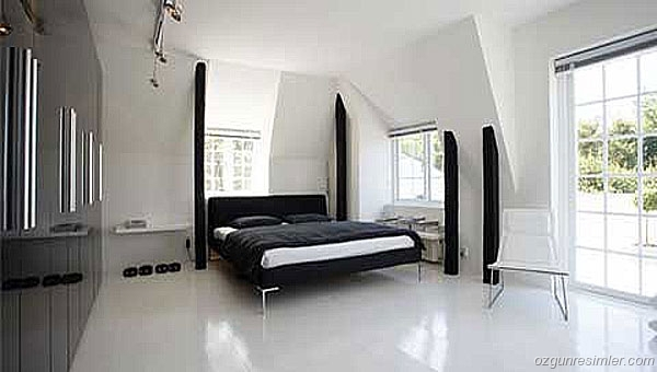 Design a bedroom 14 sq m: I recommend you watch black - white office 11, 17 sq m with a niche