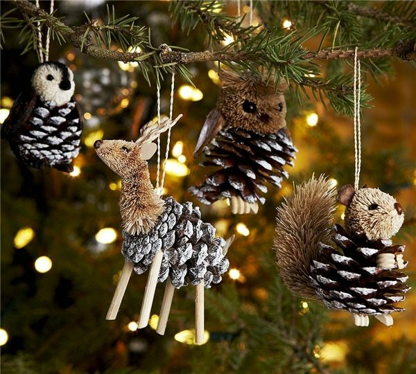 Animals from cones is appropriate look at the New Year tree