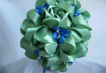 3bfabdaedbd03e102f5aa0586b7a8 - flower-floristry-topiary-from-satin ribbons