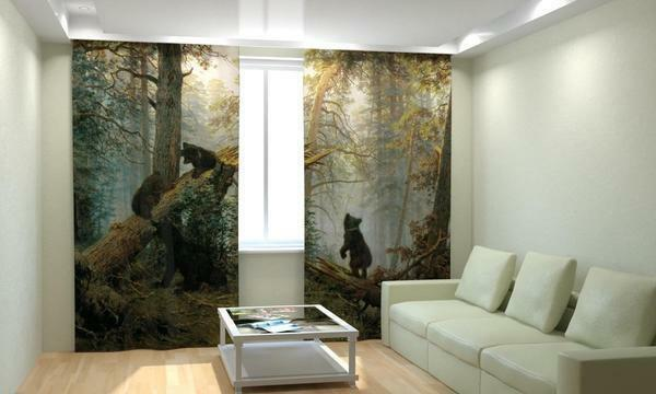 Photo-blinds with the image of animals look more expressive, however, they are more difficult to fit into the interior