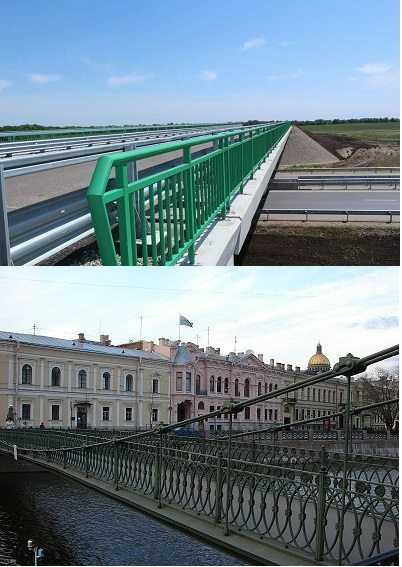 These different bridge balustrade