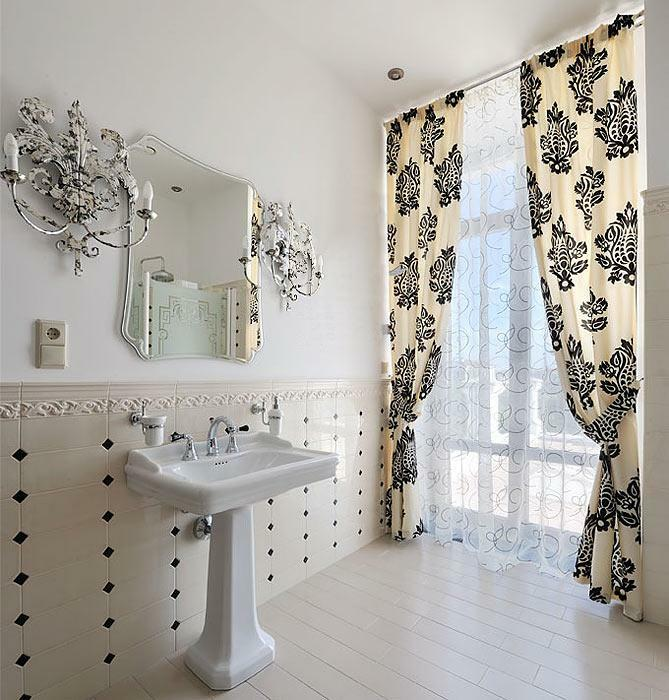 Curtains in the bathroom: photo, curtain on the window, how to feed the photoshorts, Roman beautiful curtains, design