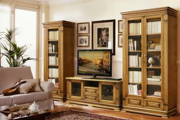 The set in the living room from solid wood has one very significant feature - it is a natural, environmentally friendly material