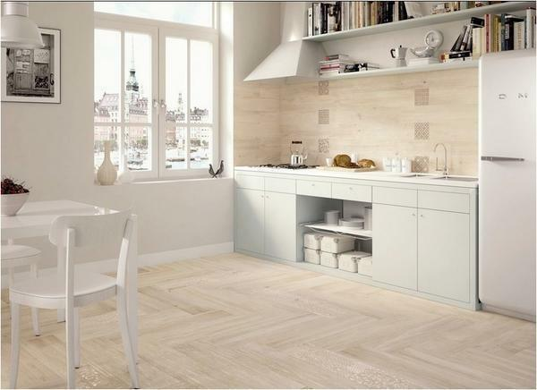 White tile will help visually increase the room