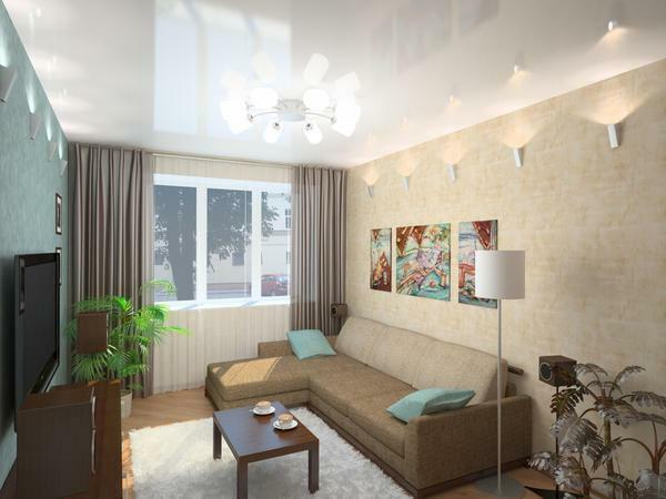 Visually make the room more spacious by using the walls and ceiling in light colors