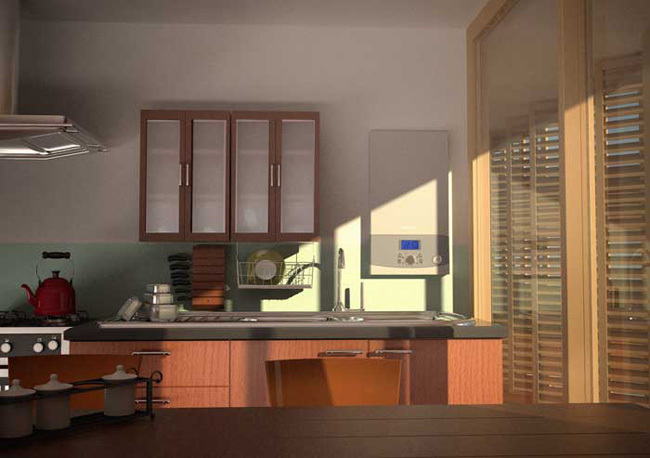 design kitchen with gas stove