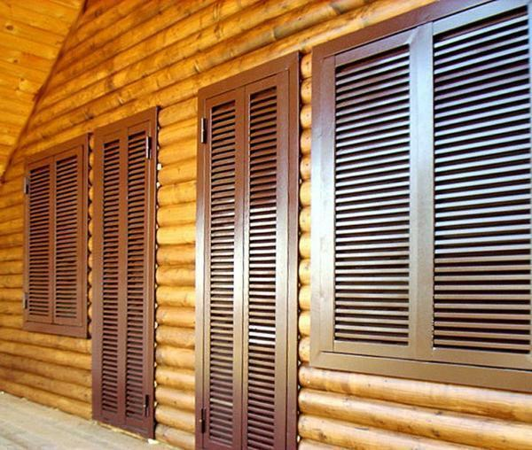 Wooden shutters on the windows: types of blinds, photos, interior beautiful, decorative in the interior with their own hands