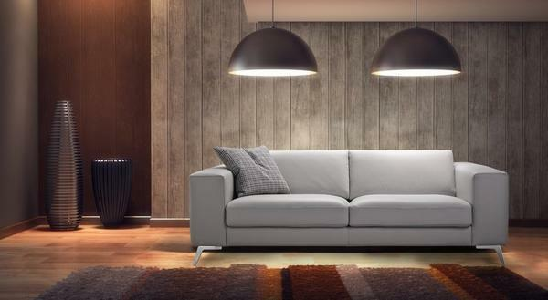 An excellent option for a bedroom will be a small original sofa