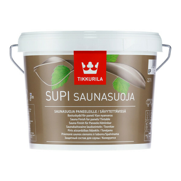 Impregnation bath lining Supi Saunasoja (Tikkurila) differs from other antiseptics ecological