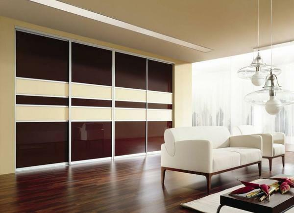It is quite practical to use a full-compartment sliding-door wardrobe with a sliding system