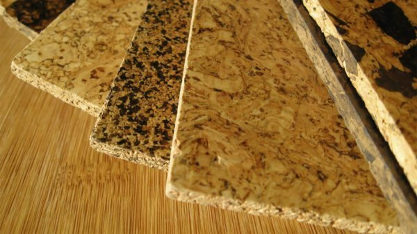 Cork lining is shredded tree bark, held together by a natural adhesive composition