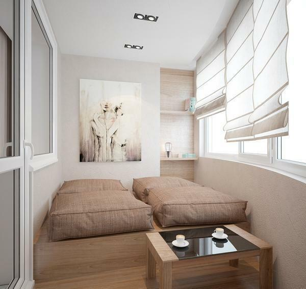 Bedroom on the balcony: design and photo, a loggia in the apartment, a combined interior of a small room, a bed