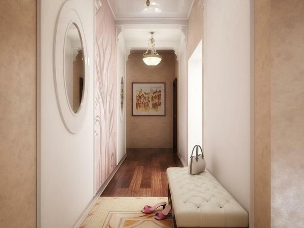 Ideas for design of a narrow hallway are quite numerous