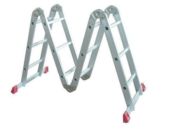 Foldable aluminum staircase-transformer: folding 6 and 8 meters, Centaure and LMS