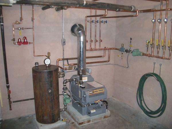 To ensure that the boiler does not occupy free space, it is better to place it in a pantry or other utility room