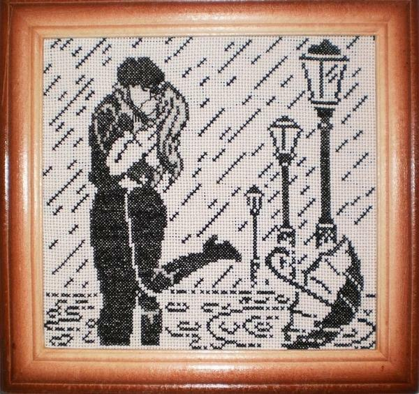 Black and white cross-stitch embroidery designs: free download, people and outline pictures, woman and man