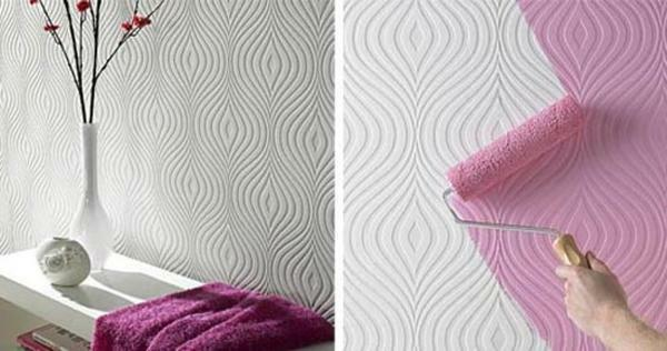 Flizeline wallpaper can be painted, which gives you the opportunity to change their color at any time