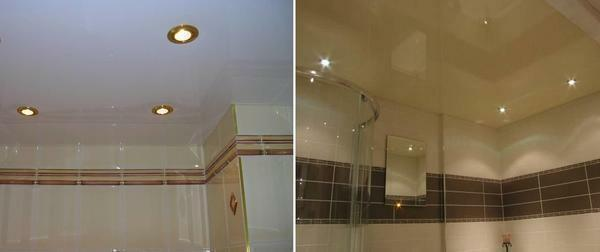 The main advantage of installing a stretch ceiling in the bathroom is its long life