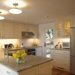 Kitchen design in a private house