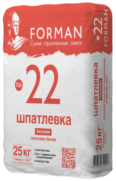 Forman-22 - quality plaster from domestic producers, is not worse than the more expensive products of competing brands
