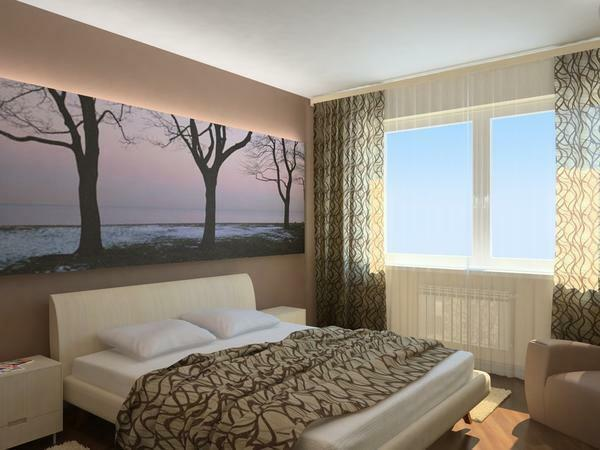 Bedroom room layout: room 3 3, large apartment, plan with sizes 4 on 3, regular photo furniture