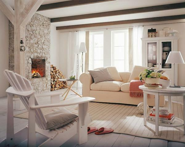 If you decide to design a living room in Scandinavian style, then for finishing the room it is better to use only natural materials that are environmentally friendly and safe