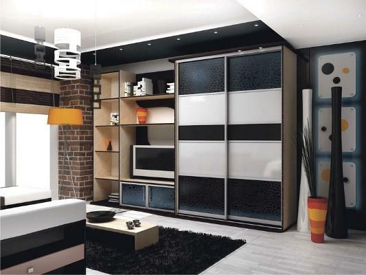 Correctly selected wardrobe will make the interior of the living room stylish and beautiful