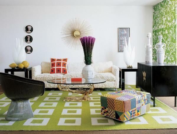 Retro-style loves comfortable sofas, armchairs and chests of drawers, and is characterized by a variety of colors