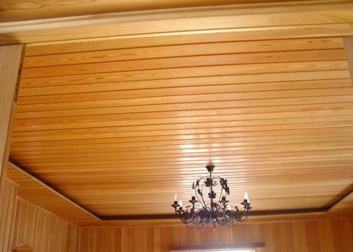 The ceiling on the cottage is fast: ideas how to decorate and photo, how to make decoration in the cottage, sew the material lining