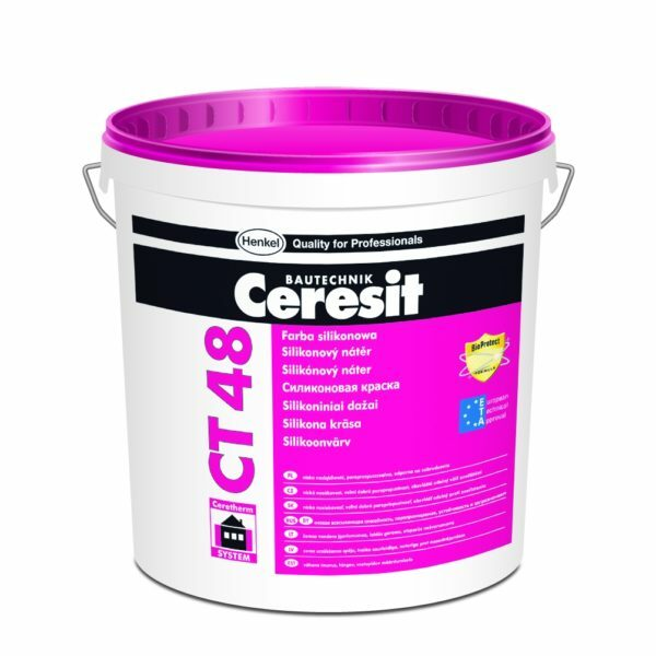 In the photo Ceresit CT 48 - Silicone paint quality from the German manufacturer