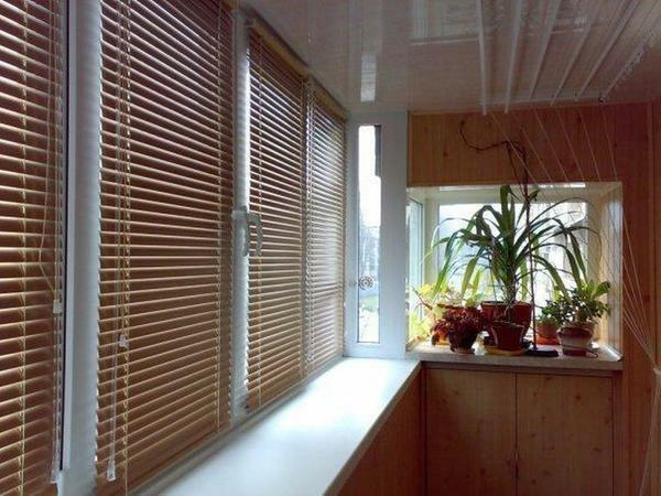 In demand and popular today are blinds, which are made of plastic
