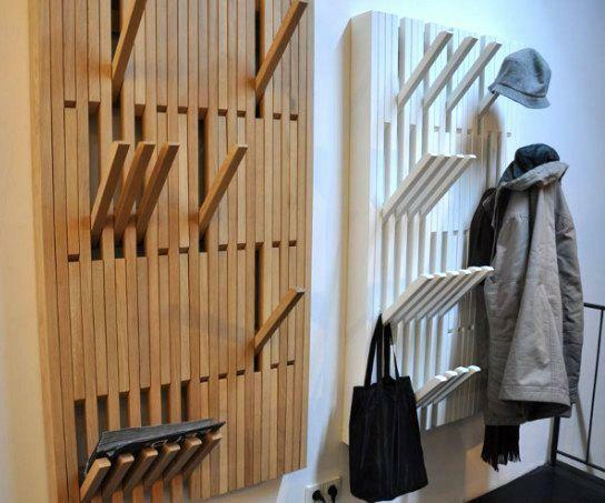A stylish wall hanger is a fairly functional and practical item of a furniture set
