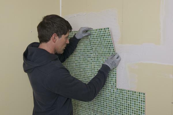 How to lay a tile on a drywall: is it possible to tile, with your own hands technology, how to lay in a bathroom, video