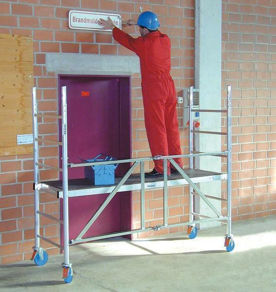 "For each ladder of the company ""Krause"" you can choose additional equipment for a more comfortable and safe operation"
