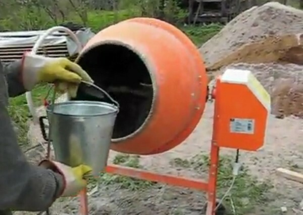 Fill it with water in a concrete mixer