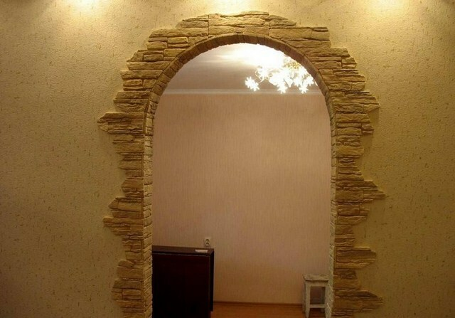 Arch made of plasterboard in the hallway: video-installation instructions with their hands, especially drywall constructions between the corridor and the living room, Price, Photo