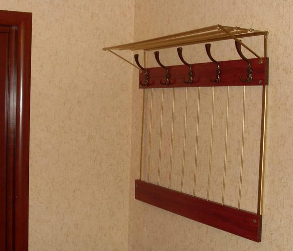Hanger in the hallway with their own hands: photo how to make, original for clothes, how to hang and at what height