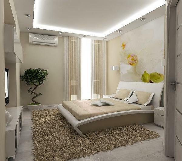 Bedrooms are better to decorate in light colors