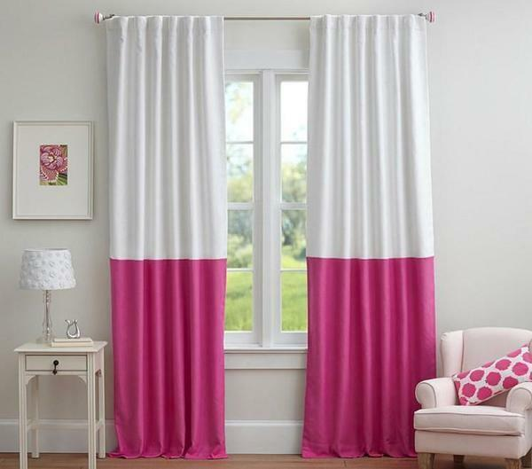 Excellent curtains, which are lengthened by another fabric from below