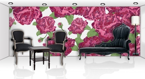 Now it is fashionable to hang wallpaper