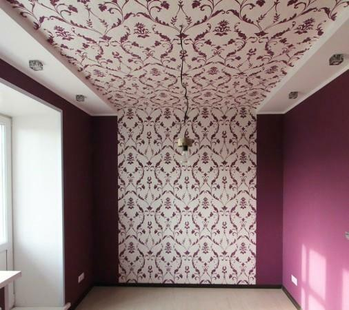 Decorate the ceiling easily with the help of original wallpaper