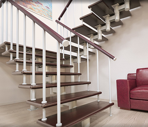 Do-it-yourself staircase to the second floor: manufacture of wood, stone, metal