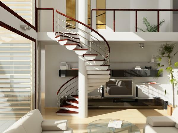 Choosing a spiral staircase should take into account the size and features of the room where it will be installed