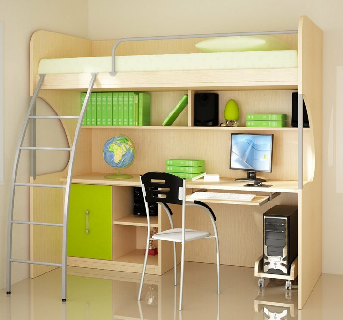 Room design project, a ready example of the interior apartments for a teenager with his own hands