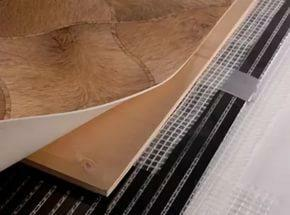 Install a warm floor of film type under linoleum simply and it will not take long