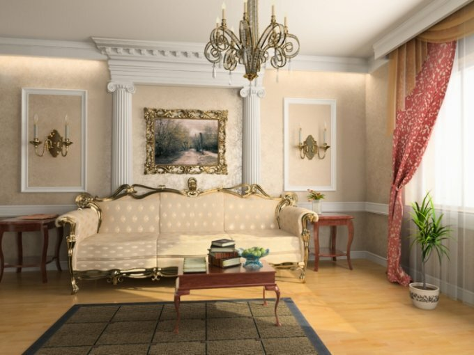 Interior room in classic style
