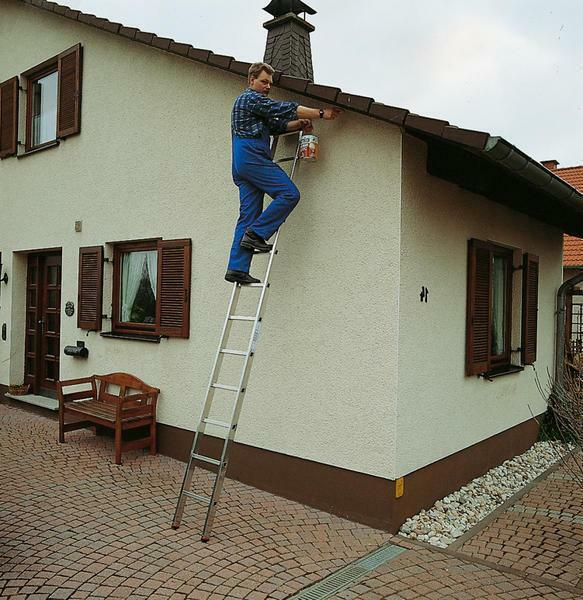 During use, the ladder is supported by stub posts that remain stable even on slippery surfaces