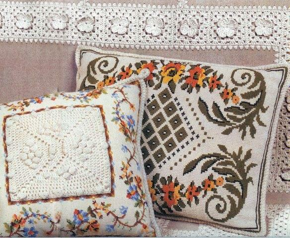 Cross-stitch embroidery makes it possible to create patterns that amaze with its beauty, and artistic products are examples of arts and crafts