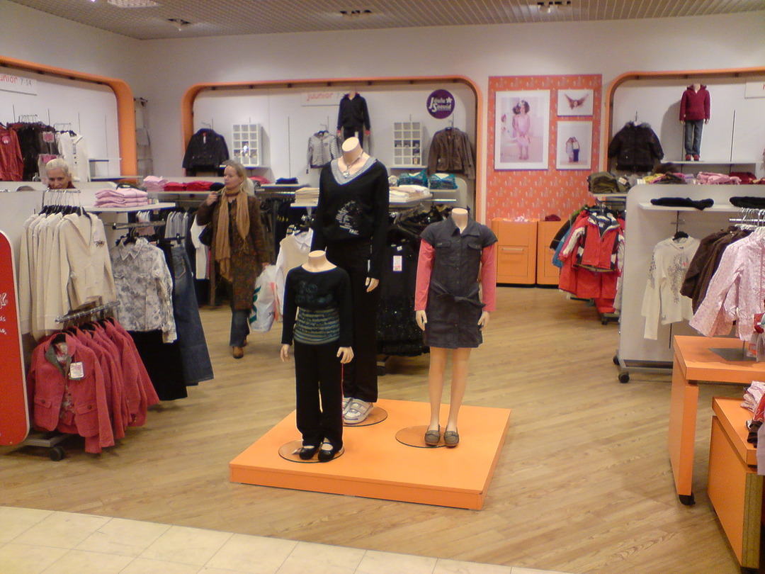 interior children's clothing store