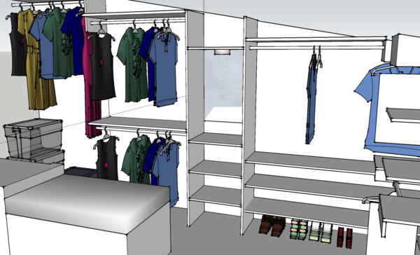 Modern technologies make it possible to plan your wardrobe room online